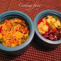 Bento isotherme : nouilles sautées aux crevettes et petits légumes
