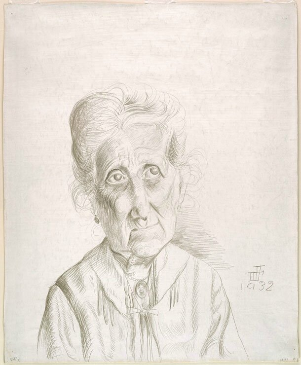 Otto Dix, Old Woman, 1932