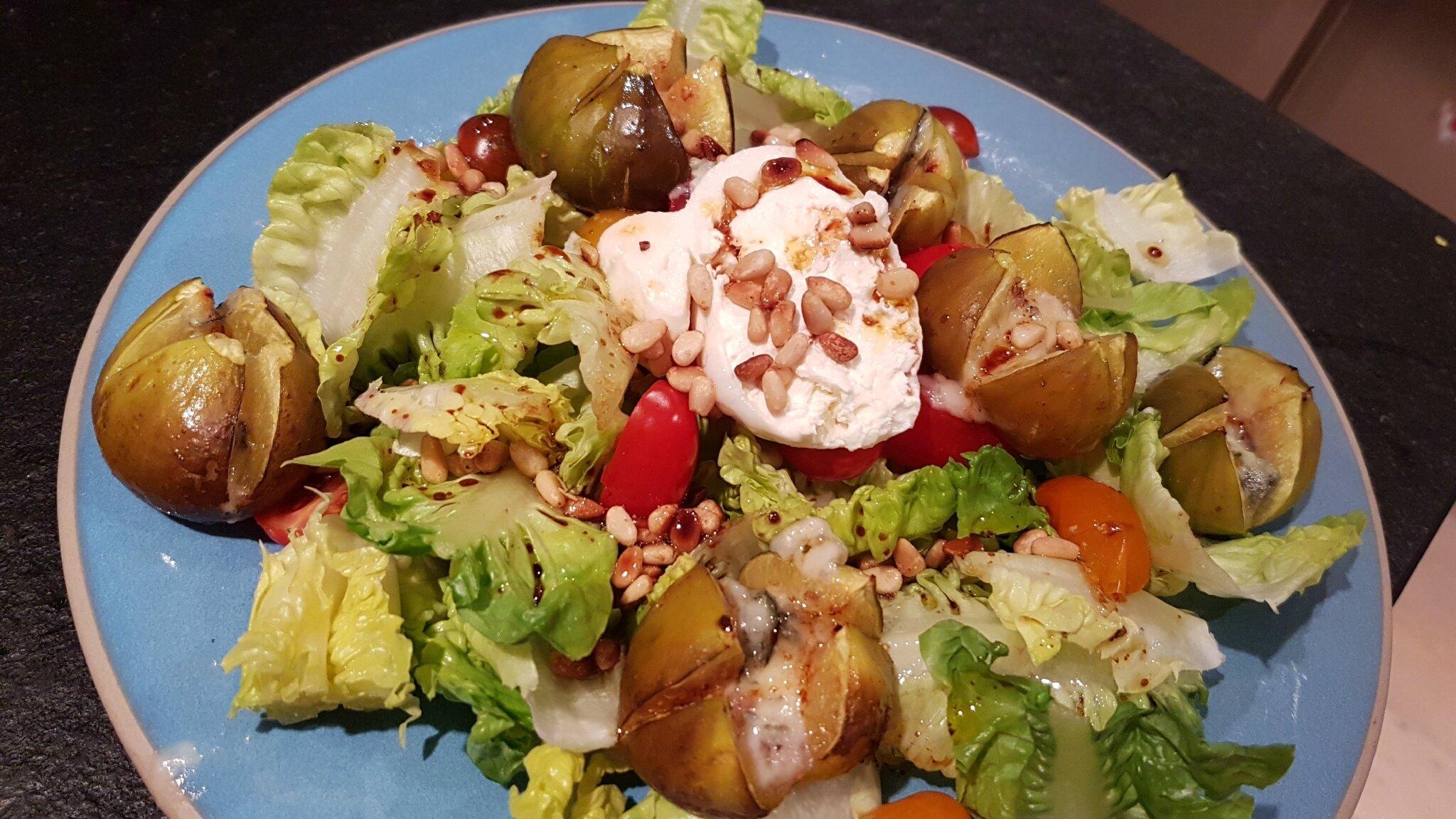 Salade aux figues rôties