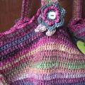 Sac crocheté en Flower bed ( Anne)