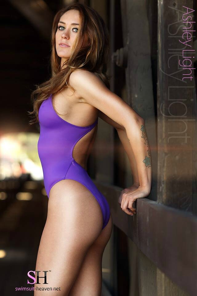 Ashley in Realise N-011 purple for Swimsuit-heaven.net
