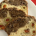 Le cake marbré aux olives et à la tapenade :