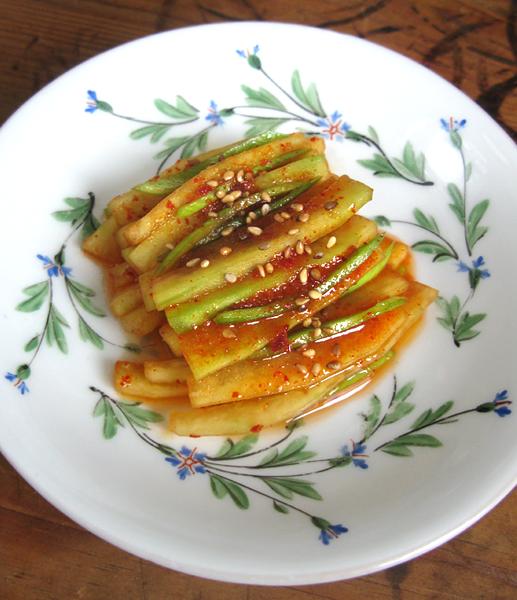 ecorce pateque salade coréenne