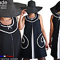 robe made in france noire blanc trapèze