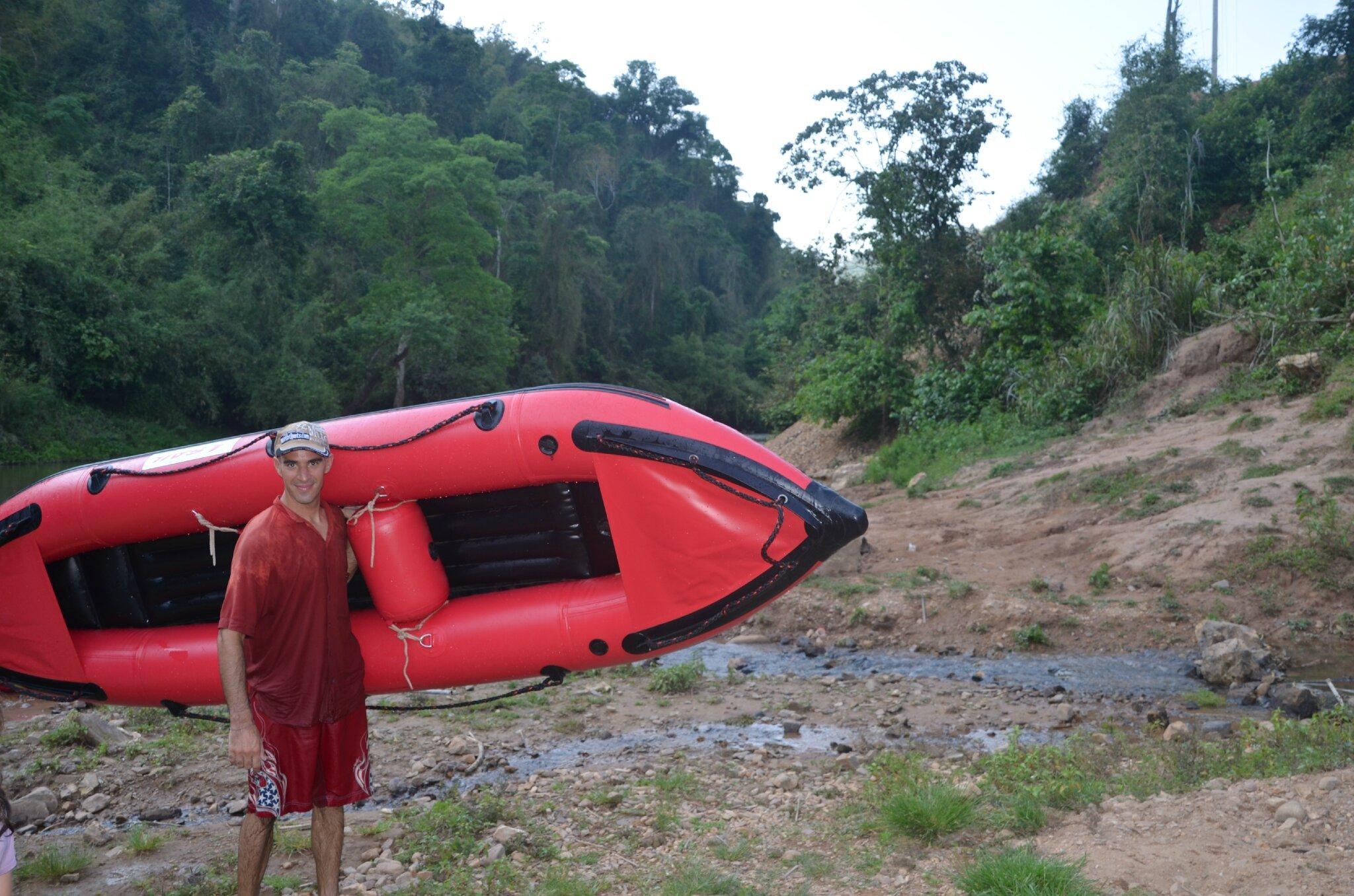 canoë à Louang Namtha