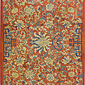 A massive red-groundkesisilk hanging, yongzheng-qianlong period (1723-1795)