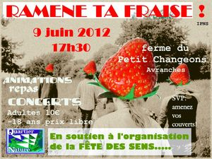 Ramène ta fraise Avranches samedi 9 juin 2012