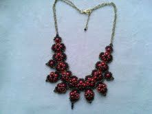 collier hindia rouge