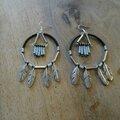 Boucles d'oreille à plumes