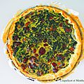 Quiche épinards marrons