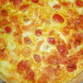 Tarte tomates cerises (les dernières de la saison), mozzarella, et curry