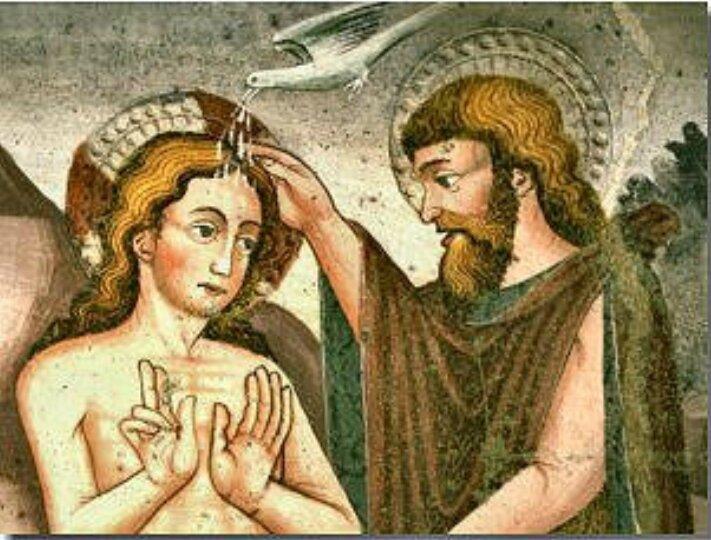 Baptême de Jésus, onction du Saint Esprit