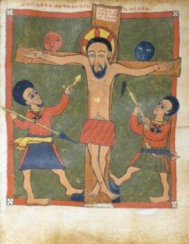 Transfixion, évangile de Gunda Gunde, Ethiopie