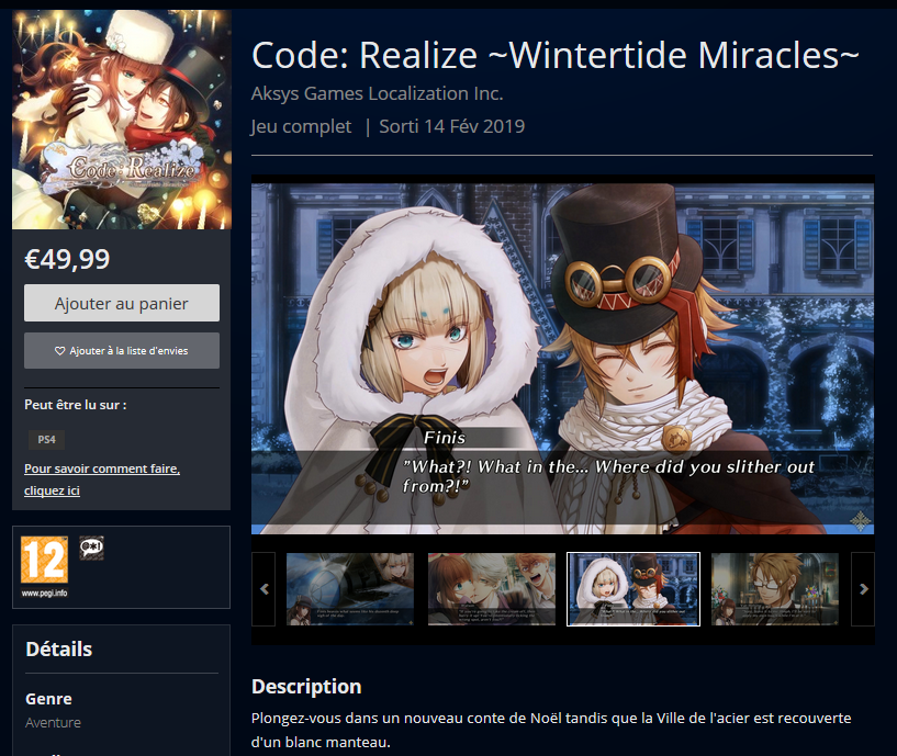code realize ps4