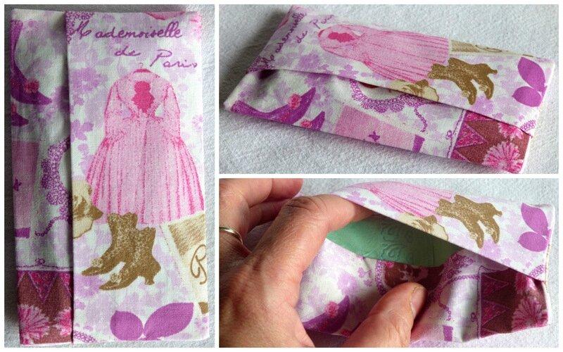pochette à mouchoirs Melle Paris rose