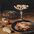 Gottfried von wedig (1583 cologne 1641), large still life with a roasted chicken, bread and sweetmeats in opulent vessels