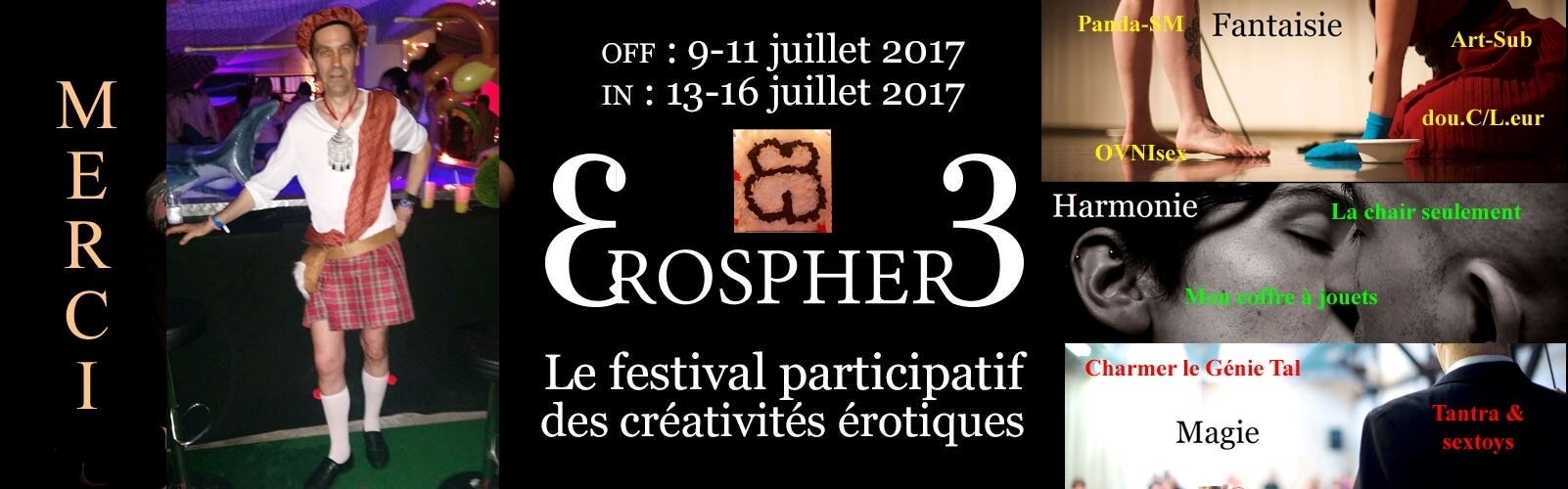 Mon premier Erosphère, festival des sexualités créatives - juillet 2017