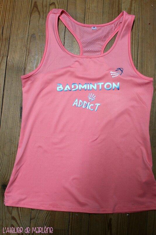 tee shirt débardeur badminton Addict