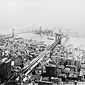 Brooklyn and Manhattan bridges, 1916