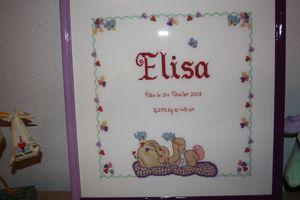 Tableau naissance Elisa 01