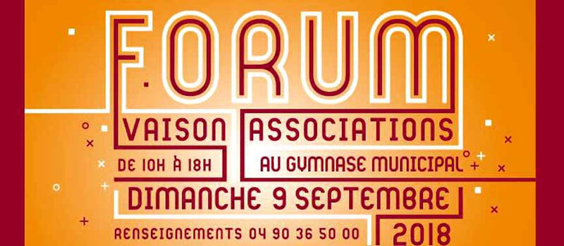 Journée des Associations, Vaison la Romaine-9 septembre 2018