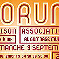 Dimanche 9 septembre 2018 à vaison la romaine: forum des associations
