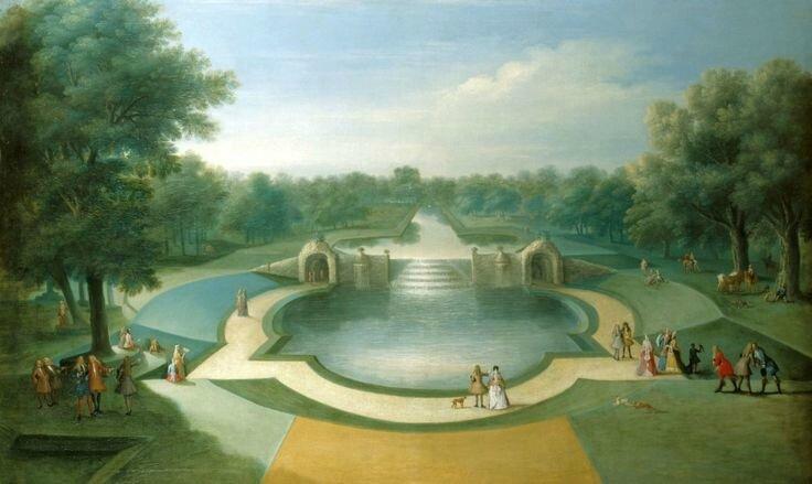 Studio of Marco Ricci (Belluno 1676-Venice 1730), A View of the Cascade, Bushy Park Water Gardens, c