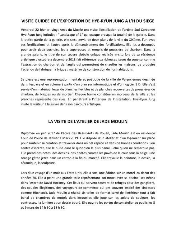 VISITE GUIDEE DE L'H du SIEGE Février 2019-1
