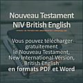 Nouveau testament niv british english, pdf et word