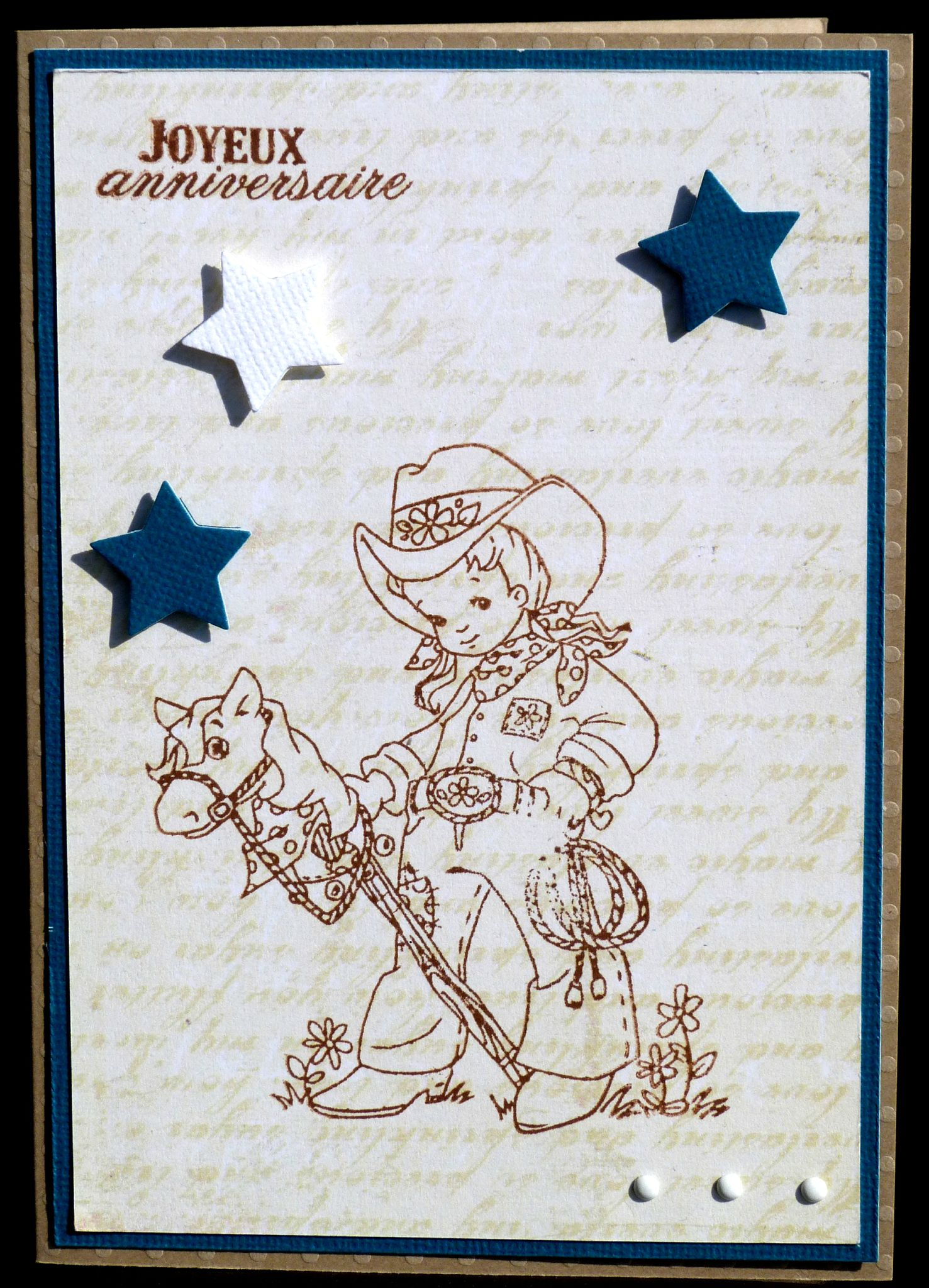 89. beige, bleu, blanc et chocolat - cowboy