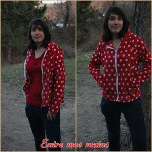 veste rouge melo