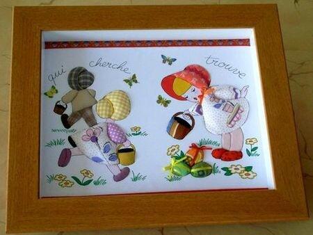 incruste de tissus sur carton mousse 2008( qui cherche trouve)