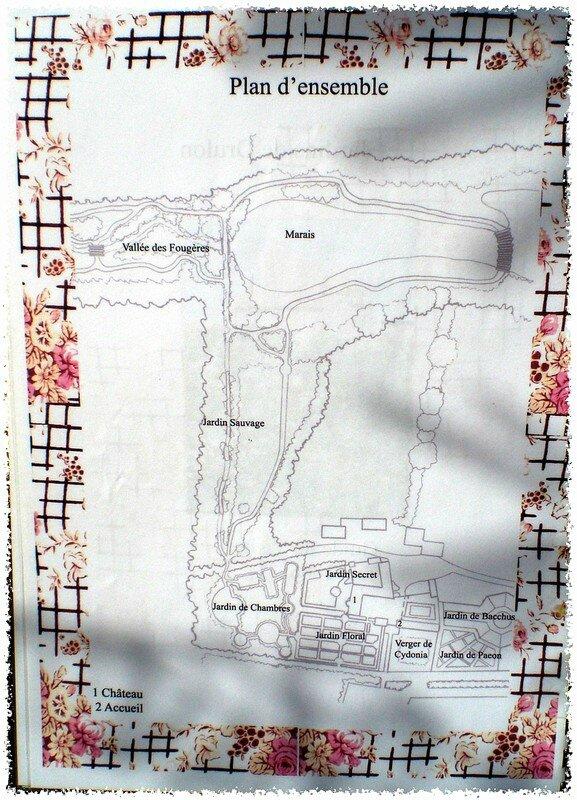 Plan d'ensemble des jardins de Drulon