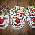 Masque de clown pour le carnaval ou mardi gras