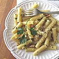 Macaronis sans gluten, au citron, ail et persil