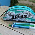 trousse requin personnalisée KEVAN