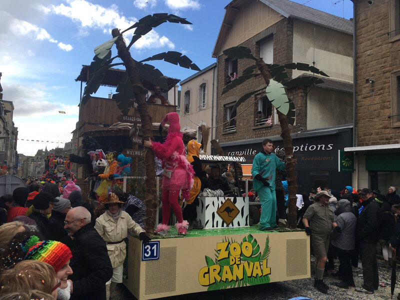 Carnaval Granville Manche 2017 char zoo
