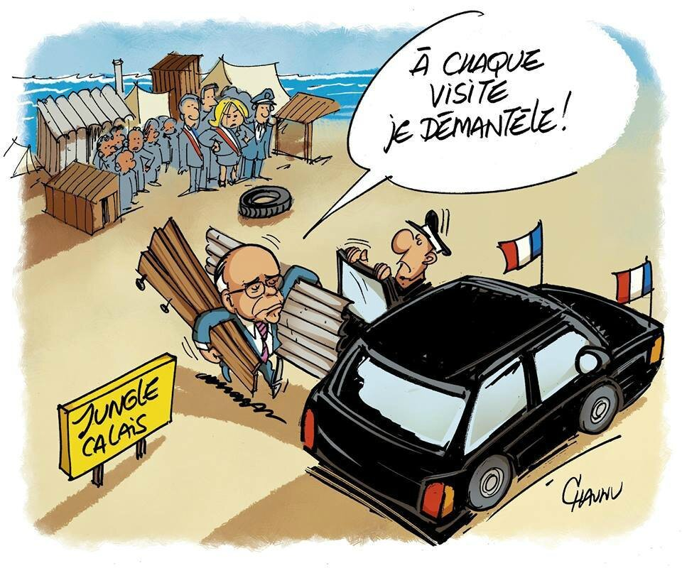 ps humour cazeneuve casevide calais humour