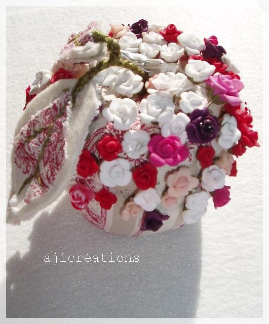 Pomme pique-épingles de roses