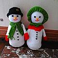 Mr et mme bonhomme de neige (22 cm)