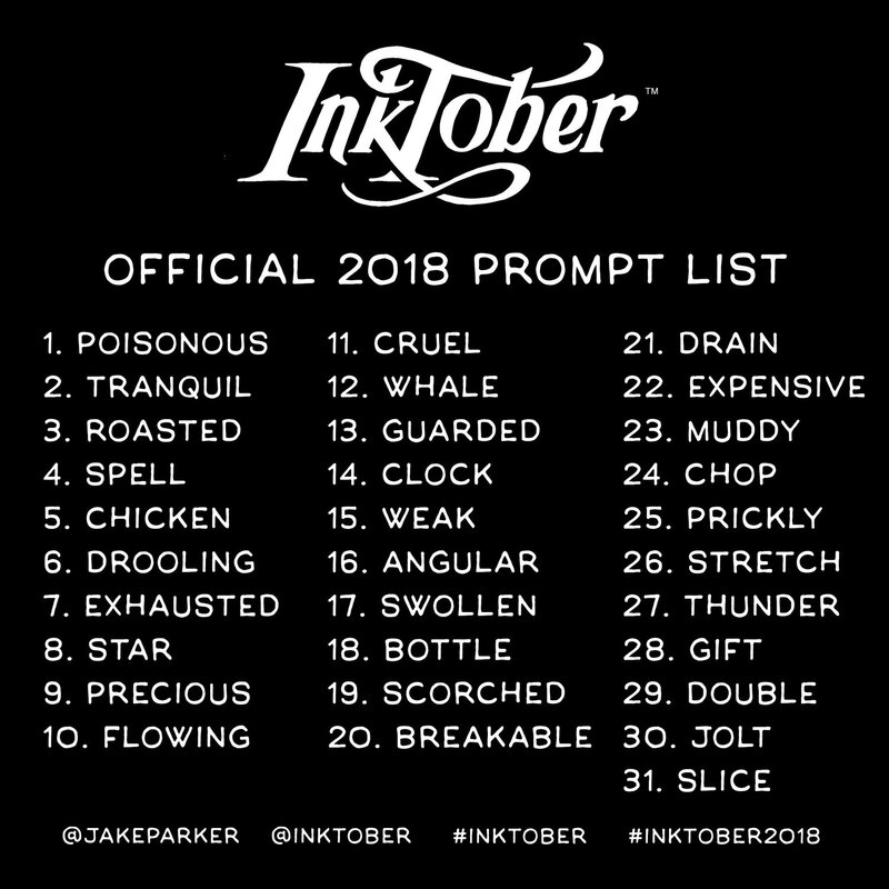 2018+Inktober+prompt+list
