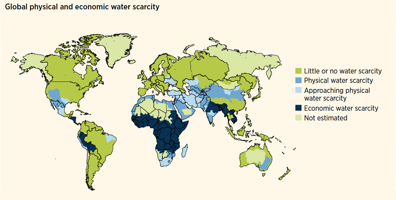 monde environnement Water scarcity in the world