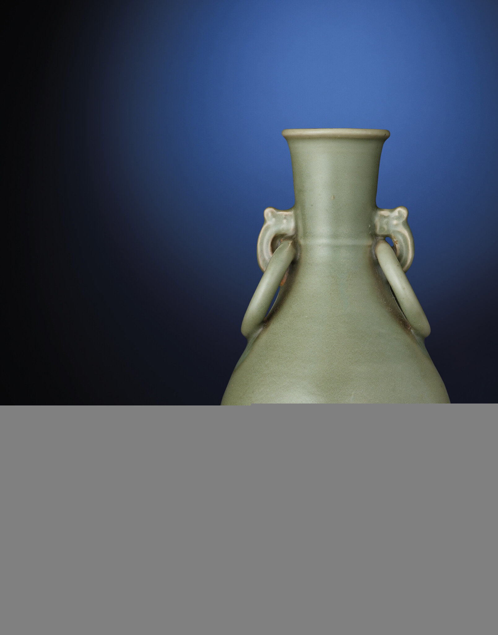 A rare Longquan celadon pear-shaped vase, Yuan dynasty, 14th century, 10 in. (25.5 cm.) high. Sold for HKD 350,000 at Christie's Hong Kong, 30 November 2011, lot 3008. © Christie's Images Ltd 2011