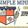 Simple minds - vendredi 27 avril 1984 - zénith (paris)