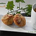 Muffins d'automne à la citrouille, aux raisins secs et aux noix, sans gluten et sans lactose