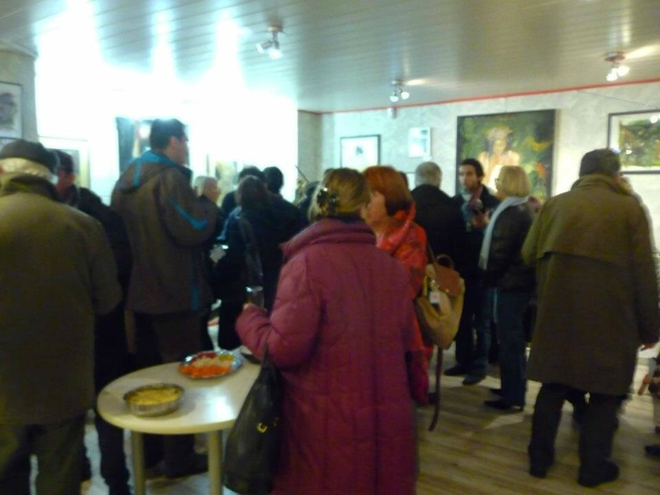 Photos du vernissage à la galerie Art Pluriel, le 30 novembre