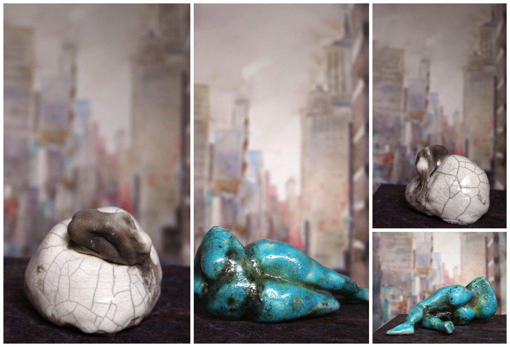 sculptures avec cuisson raku aquarelles contemporaines encre et travail sur papier par. Black Bedroom Furniture Sets. Home Design Ideas