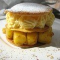 Millefeuille à la mangue, mousseline au litchi (Station gourmande)