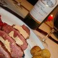 ¤¤¤ notre plat de noël : magret de canard au foie gras, poêlée de champignons et grenade