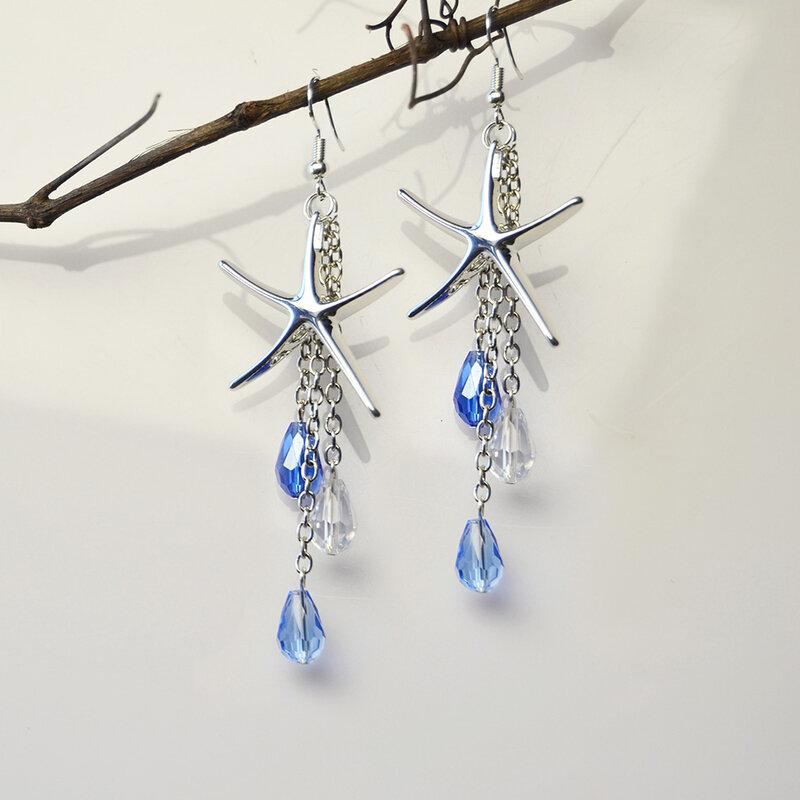 pandahall-diy-craft-on-brass-starfish-pendants-earrings-with-drop-glass-beads-dangles04